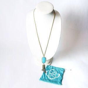 Kendra Scott | Turquoise and gold tassel necklace